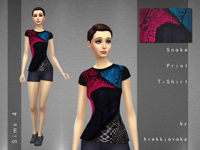 Sims 4 Snake Print t shirt at Hrekkjavaka Sims