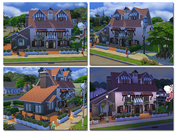 Sims 4 Daisy English Pub by ayyuff at TSR