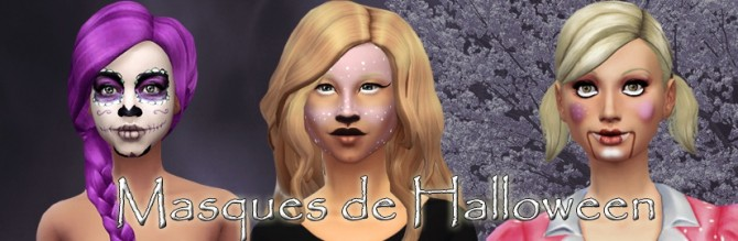 Sims 4 HALLOWEEN masks by Delise at Sims Artists