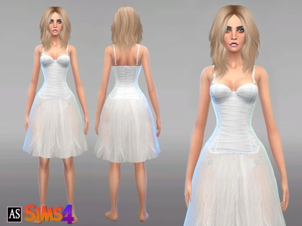 Angelic White Outfit by Alexandra Sine at TSR image 1920 Sims 4 Updates