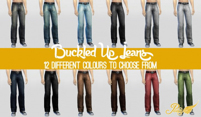 Buckled Up Jeans by Peacemaker IC at Simsational Designs image 196 Sims 4 Updates