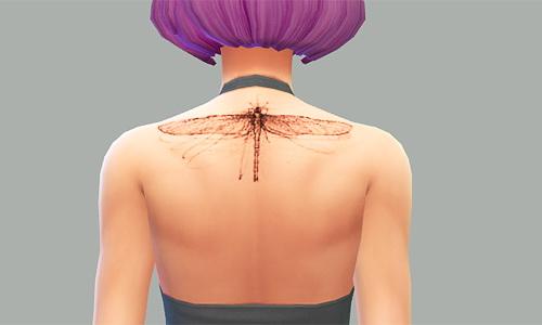 Sims 4 Sylvies Dragonfly tattoo at SqquareSims