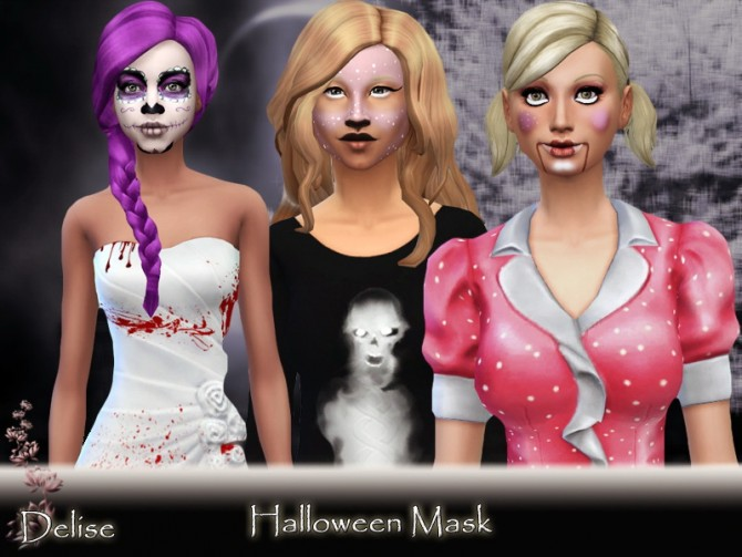 HALLOWEEN masks by Delise at Sims Artists image 20121 Sims 4 Updates
