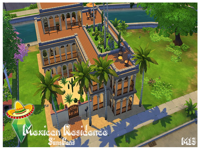 Mexican Residence by m13 at Sims Fans image 202 Sims 4 Updates