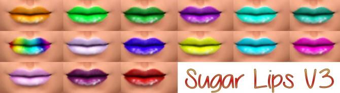 Sims 4 Sugar Lips V3 at Star's Sugary Pixels