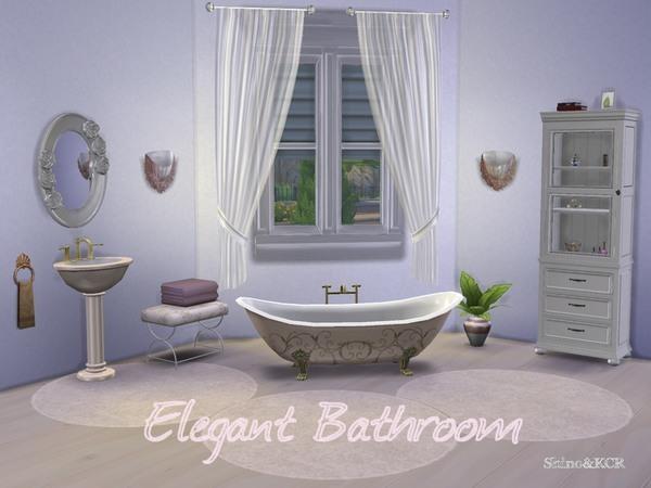 Elegant Bathroom by ShinoKCR at TSR image 21101 Sims 4 Updates