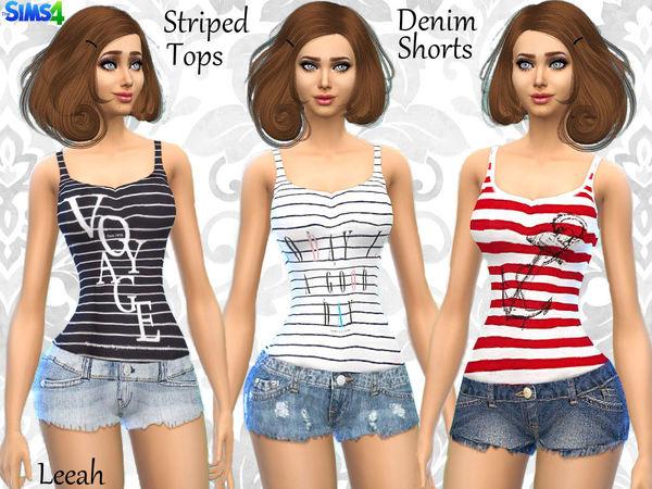 Sims 4 Shorts and Tanks by leeah at TSR