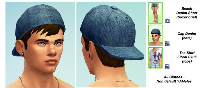 Sims 4 Cap, Short and Tee at Tipalouf