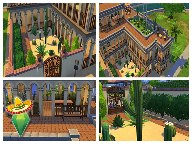 Mexican Residence By M13 At Sims Fans 187 Sims 4 Updates