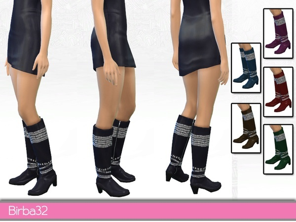 Sims 4 Decorated boots by Birba 32 at TSR