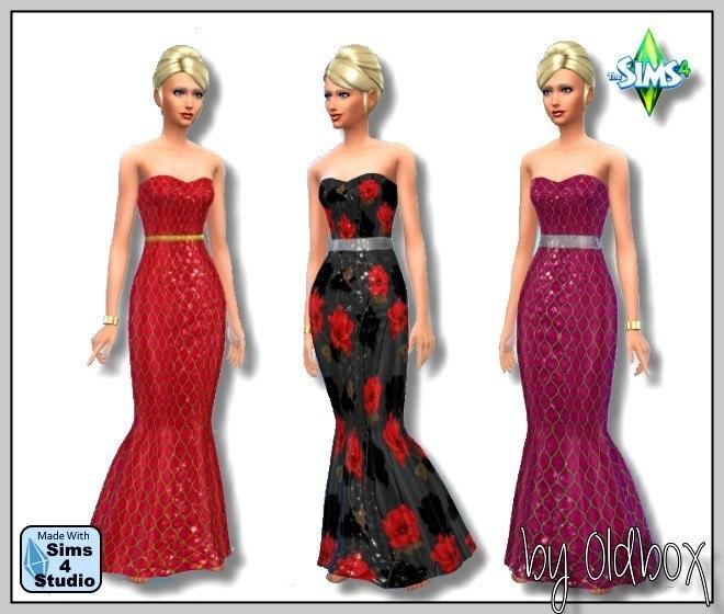 Sims 4 Dresses, walls and tops at All 4 Sims