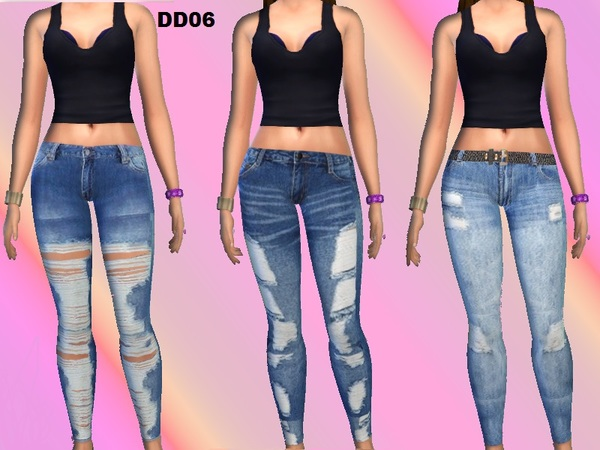 Sims 4 DD06 jeggings set by DivaDelic06 at TSR