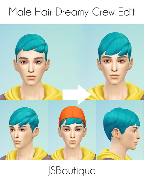 Male Dreamy Crew Hair converted with Longer Bangs at JSBoutique image 2223 Sims 4 Updates