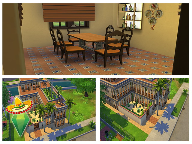 Mexican Residence by m13 at Sims Fans image 232 Sims 4 Updates