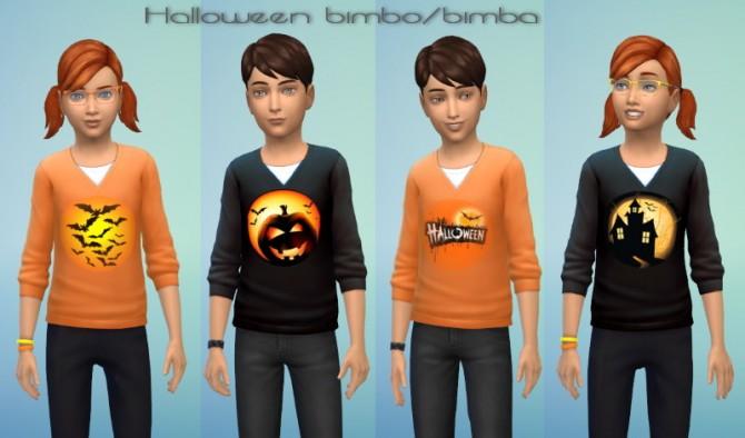 Sims 4 Halloween shirts for kids at Mondo Sims