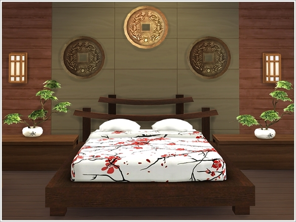 Sims 4 Asian Bedroom by Severinka at TSR