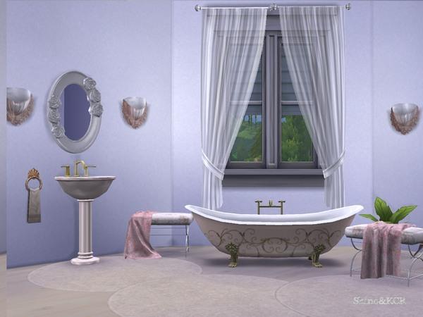Elegant Bathroom by ShinoKCR at TSR image 2351 Sims 4 Updates