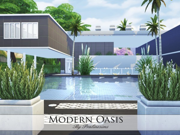 Modern Oasis House By Pralinesims At TSR Sims 4 Updates