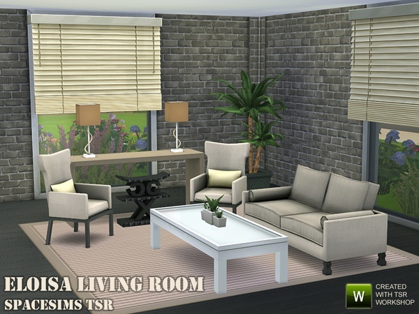 Eloisa living room by spacesims at TSR image 2441 Sims 4 Updates
