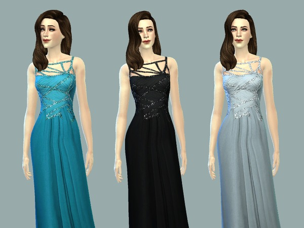 Hannah gown by April at TSR image 246 Sims 4 Updates