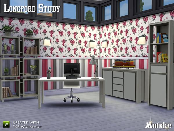 Sims 4 Longford Study by Mutske at TSR