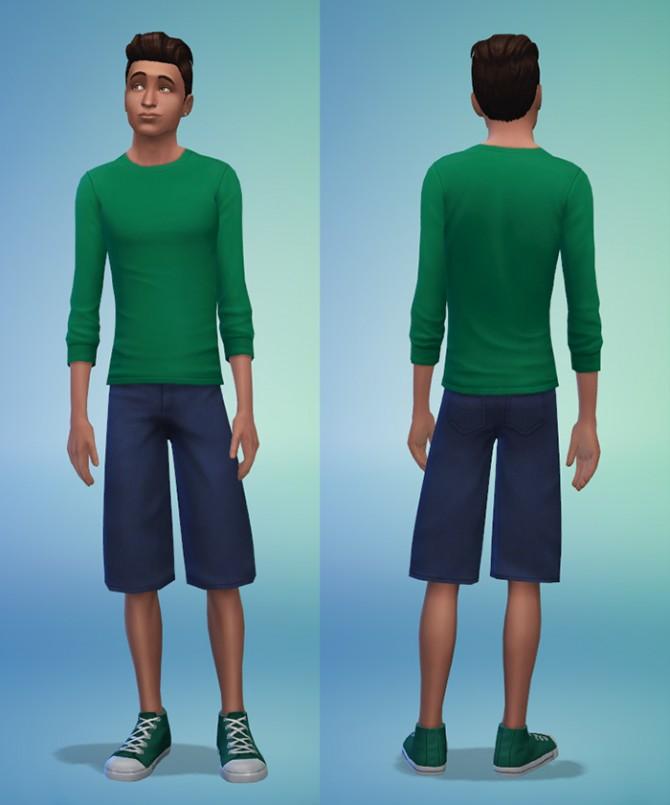 Sims 4 Long Denim Shorts at Sims 4 Dub