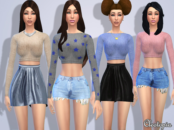 Casual Fashionista Set by Cleotopia at TSR image 2511 Sims 4 Updates