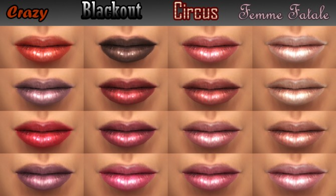 Sims 4 Original Doll 16 new lipglosses by Cleos at Mod The Sims