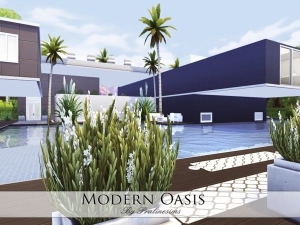 Modern Oasis house by Pralinesims at TSR image 25141 Sims 4 Updates