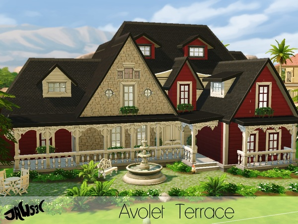 Sims 4 Avolet Terrace house by Jaws3 at TSR