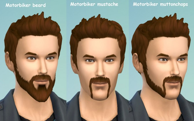 Motorbiker beard mustache and muttonchops by necrodog at Mod The Sims image 2524 Sims 4 Updates