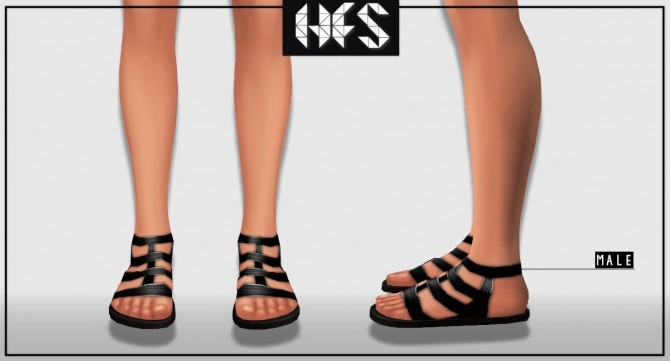 fd8a542ad90 GLADIATOR SANDALS at HAUT FASHION SIMS » Sims 4 Updates