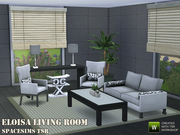 Sims 4 Eloisa living room by spacesims at TSR