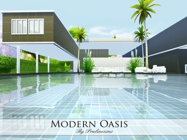 Modern Oasis house by Pralinesims at TSR image 26151 Sims 4 Updates