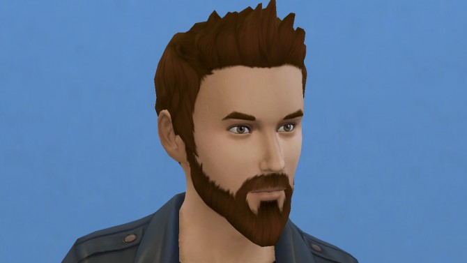 Motorbiker beard mustache and muttonchops by necrodog at Mod The Sims image 2622 Sims 4 Updates
