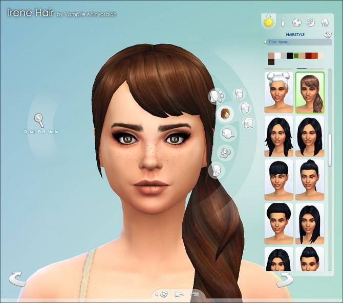 Sims 4 Irene Hair NEW MESH by Vampire aninyosaloh at Mod The Sims