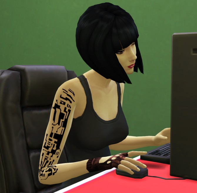 Female Circuit Diagram Tattoo by Thumpbunny at Mod The Sims image 27 Sims 4 Updates