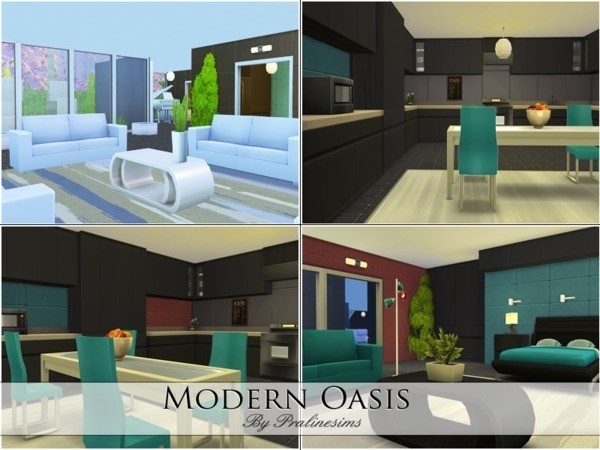 Modern Oasis house by Pralinesims at TSR image 27131 Sims 4 Updates