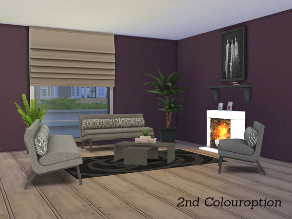 Hadley livingroom by angela at tsr sims 4 updates for Living room sims 4