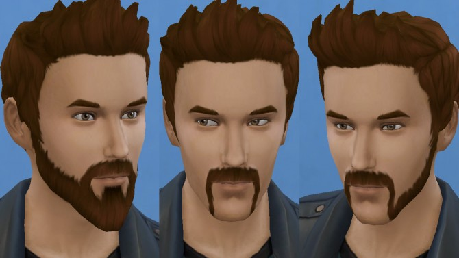 Motorbiker beard mustache and muttonchops by necrodog at Mod The Sims image 2721 Sims 4 Updates