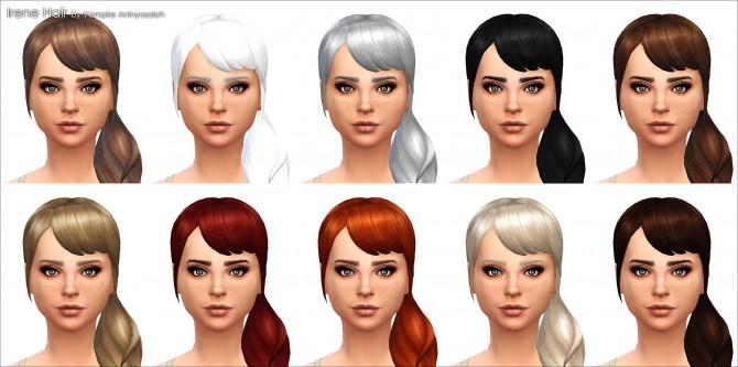 Irene Hair NEW MESH by Vampire aninyosaloh at Mod The Sims image 278 Sims 4 Updates