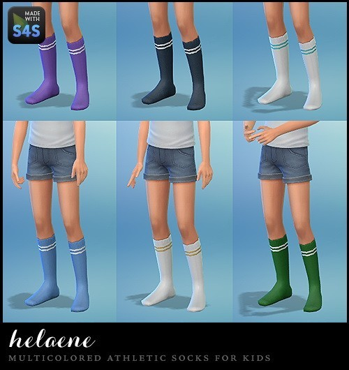 12 pairs of multicolored athletic socks at Simhelaene image 28101 Sims 4 Updates