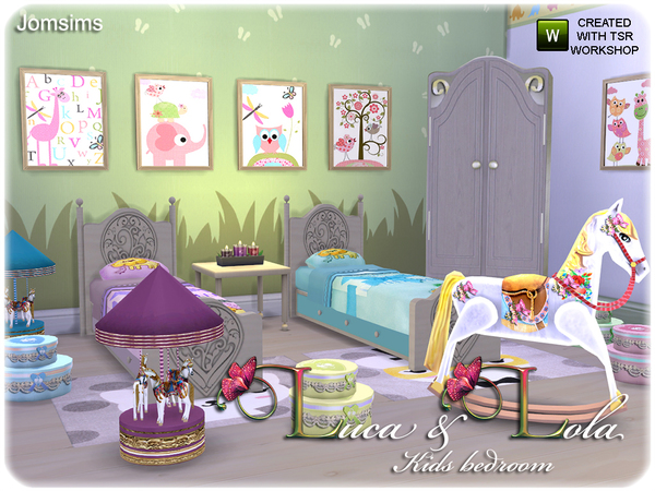 Luca Amp Lola Kids Bedroom By Jomsims At Tsr 187 Sims 4 Updates