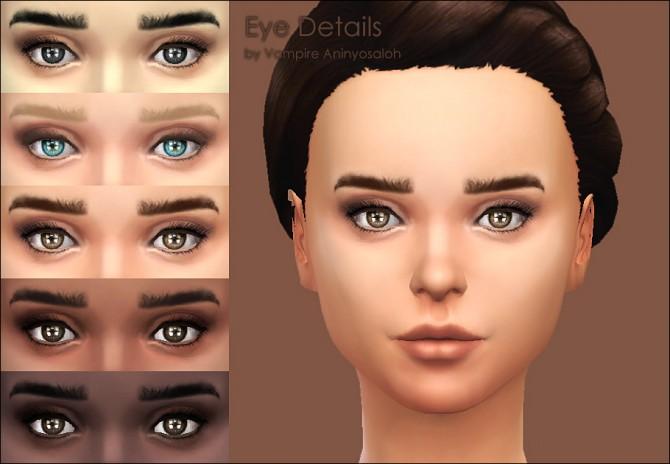 Eye contour + eyelashes by Vampire aninyosaloh at Mod The Sims image 283 Sims 4 Updates