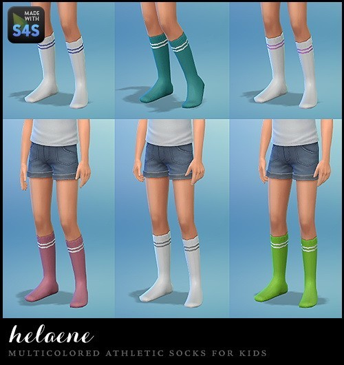 12 pairs of multicolored athletic socks at Simhelaene image 29101 Sims 4 Updates