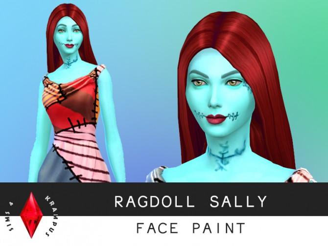 Sims 4 Ragdoll Sally face paint at Sims 4 Krampus