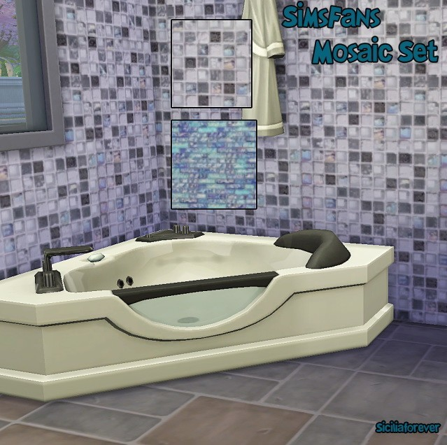Sims 4 Mosaic Set by Siciliaforever at Sims Fans