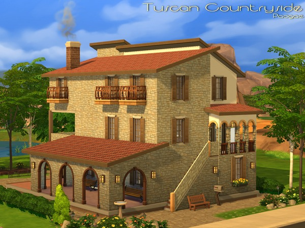 Tuscan countryside by paogae at tsr sims 4 updates for Case the sims 3 arredate