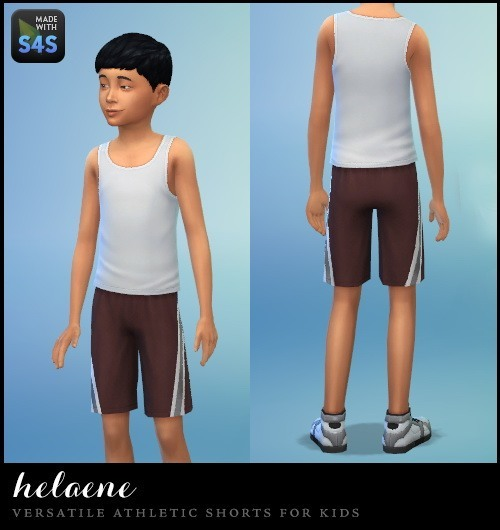 6 realistic colors of athletic shorts for kids at Simhelaene image 30101 Sims 4 Updates