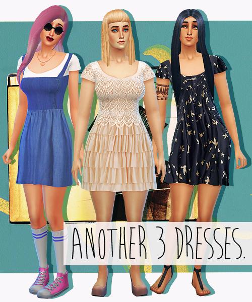 Sims 4 Another 3 Dresses at Sim sala sim